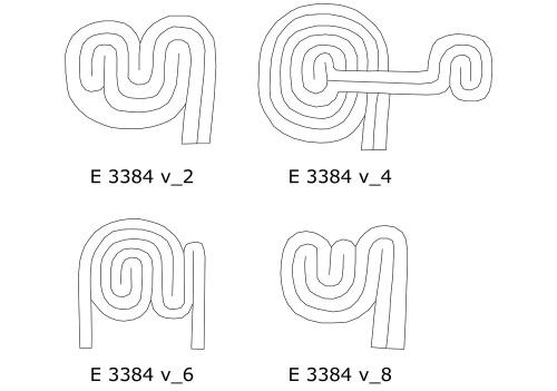 Eingeweidelabyrinthe auf E 3384 verso