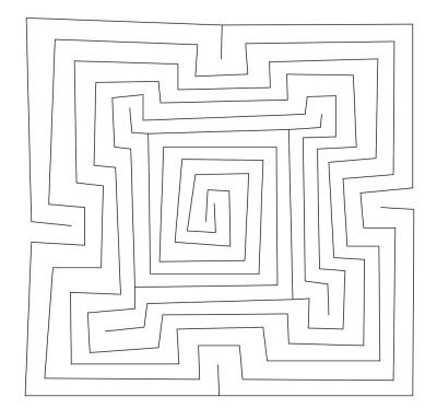 Das quadratische Babylonische Labyrinth MS 4515
