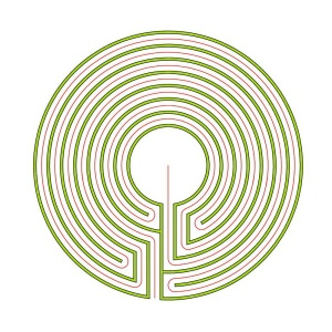 The complementary 7 circuit circular Cretan labyrinth
