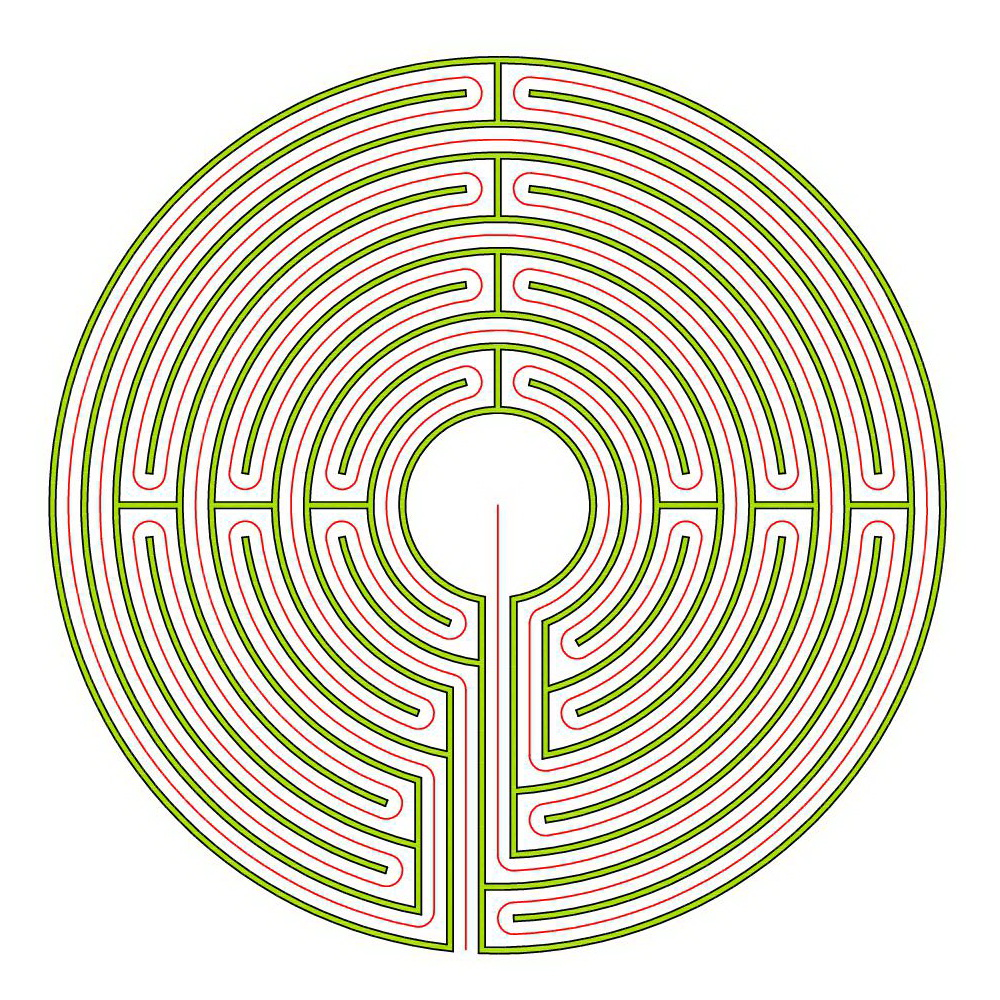 Erwin Blogmymaze Circuit Classical Labyrinth From A 5circuit Chartres The Complementary Auxerre