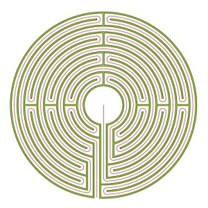 The complementary Auxerre labyrinth