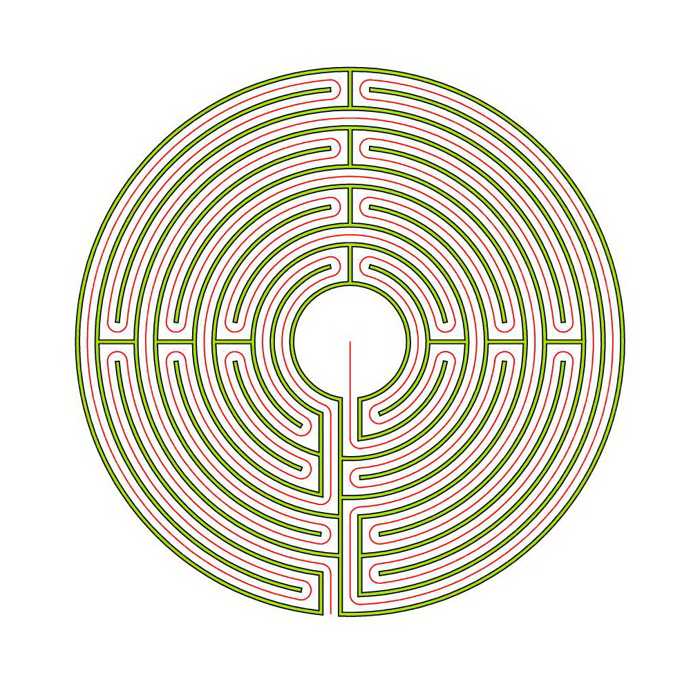 Circuit Classical Labyrinth From A 5circuit Chartres Erwin Blogmymaze The Auxerre