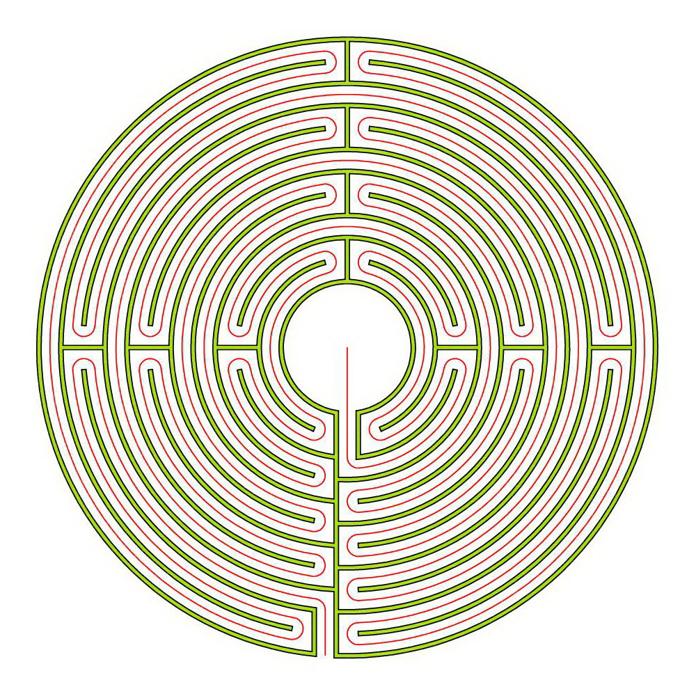 Blogmymaze Labyrinthblog By Erwin Reimann D And Andreas Frei Circuit Classical Labyrinth From A 5circuit Chartres The Reims