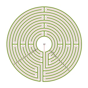 The complementary Chartres labyrinth