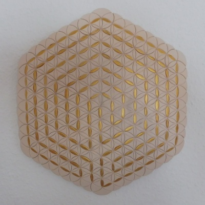 A Golden Ariadne's Thread in th Flower of Life