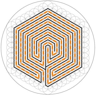 Das ganze 7-gängige Labyrinth