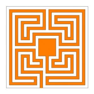 Das neue Sektorenlabyrinth in quadratischer Form