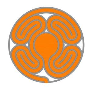 Ein anderes neues Sektorenlabyrinth im Knidos Stil