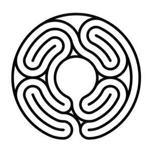 A new centered sector labyrinth in Knidos style