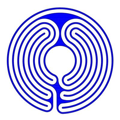 Ein zweiteiliges 7-gängiges Labyrinth im Knidos Stil (Eingang 5. Umgang)