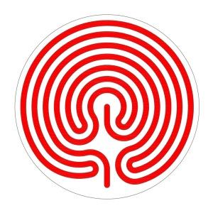 Der zentrierte Ariadnefaden für ein Fingerlabyrinth