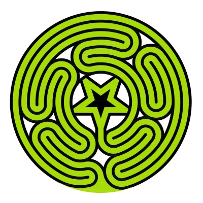 Das duale und zentrierte Labyrinth Typ Gossembrot 51 r im Knidos Stil