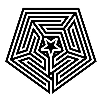 Das duale zentrierte Labyrinth Typ Gossembrot 51 r in fünfeckiger Form