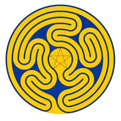 The Gossembrot labyrinth in European colors