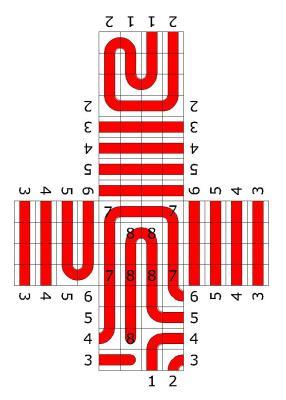 Aridne's thread on the unfolded Rubik's Cube