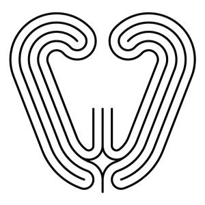 Labyrinth in einfacher Herzform