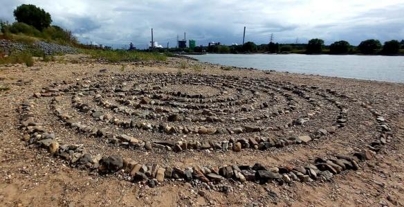 Das Labyrinth bei Rhein-km 768, Foto © Volker Bahr