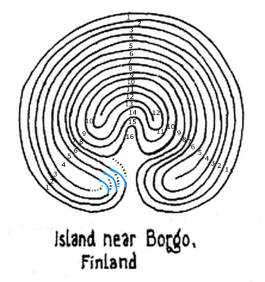 "Fig. 3: Das ""reparierte"" Borgo Labyrinth"