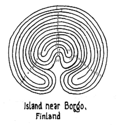 "Fig. 2: The ""faulty"" Borgo labyrinth"