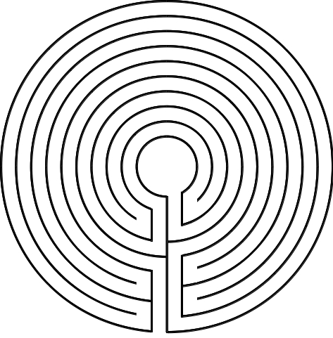 Abbildung 2. Labyrinth von Tal, Umzeichnung: Basislabyrinth