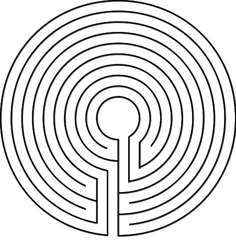 Abbildung 3. Das Gegenläufige zum Labyrinth von Tal