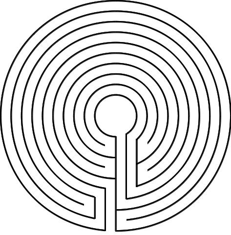 Abbildung 4. Das Komplementäre zum Labyrinth von Tal